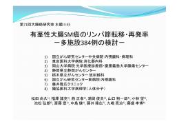 有茎性大腸SM癌のリンパ節転移・再発率 -多施設384