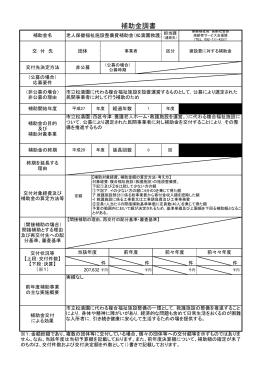 老人保健福祉施設整備費補助金(松濤園救護)