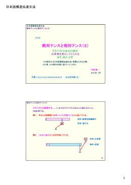 絶対テンスと相対テンス(2)