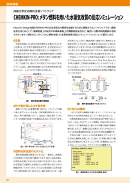 CHEMKIN-PRO: メタン燃料を用いた水蒸気改質の反応シミュレーション