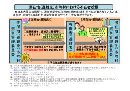 不在者投票の手続き - 東京都選挙管理委員会
