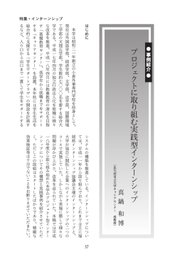 プロジェクトに取り組む実践型インターンシップ(PDF:863KB)