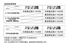 恩納漁港発着 慶良間近海¥188,000 水納島近海¥118,000 水納島