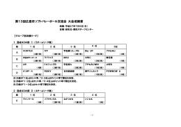 第13回 7月5日 - 広島市ソフトバレーボール連盟