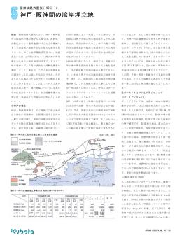神戸・阪神間の湾岸埋立地