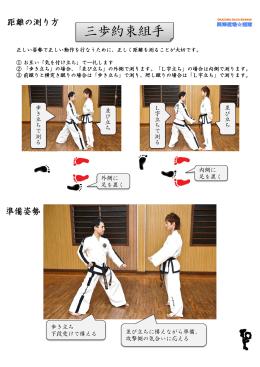 三歩約束組手(PDFダウンロード)