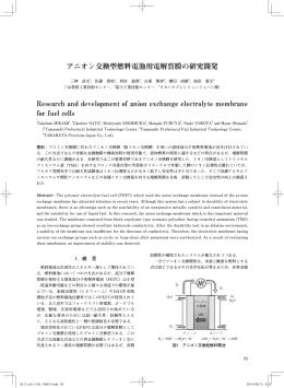 アニオン交換型燃料電池用電解質膜の研究開発 Research