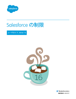 Salesforce の制限 - Salesforce.com