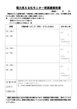 電力見える化モニター用実績報告書(別ウィンドウで開きます)(PDF