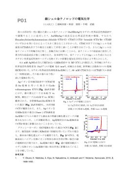銀シェル金ナノロッドの電気化学