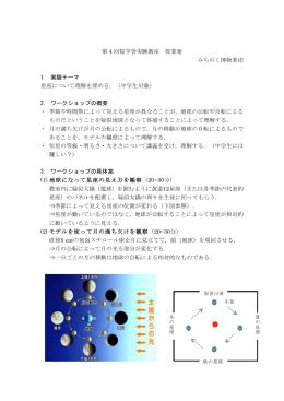 第 4 回桜学舎実験教室 授業案 みちのく博物楽団 1. 実験テーマ 星座