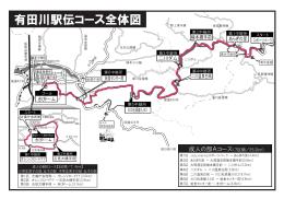 有田川駅伝コース全体図