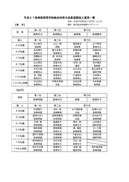 平成25年度長崎県中学校・学年別...