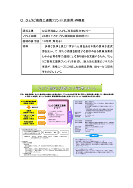 ひょうご農商工連携ファンド(兵庫県)の概要