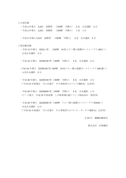 〇日産社製 ・平成元年導入 LA51 前期型 (190W 平開口) 2 色 自由
