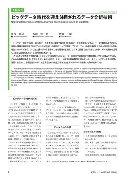 ビッグデータ時代を迎え注目されるデータ分析技術(503KB/PDF