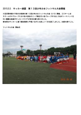 第13回少年少女フットサル大会を開催しました。(PDF)