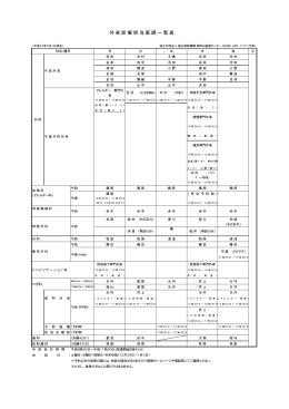 印刷用の外来診察表はこちらからダウンロードして