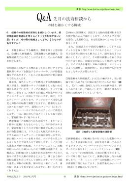 Q&A 先月の技術相談から〔木材を細かくする機械〕