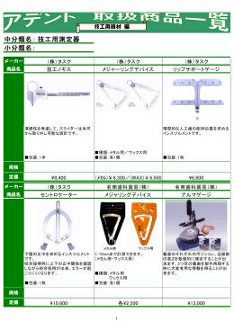 中分類名: 小分類名: 技工用測定器