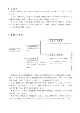 事業系ごみの減量と適正処理のお願い(PDF:133KB)