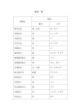 略称一覧(PDF:52KB)