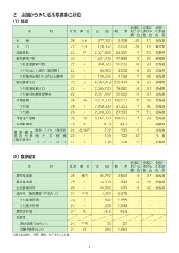 全国からみた栃木県農業の地位(PDF:59KB)