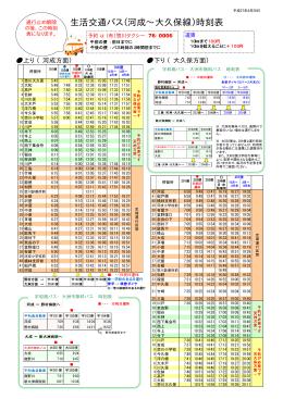 生活交通バス(河成∼大久保線)時刻表
