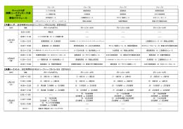 サニックス杯 国際ユースサッカー大会 2015 競技スケジュール
