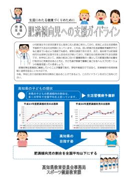肥満傾向児への支援ガイドライン[PDF:2MB]