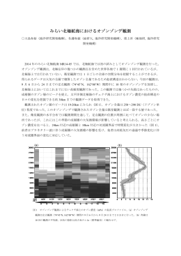 【MR14-05】 みらい北極航海におけるオゾンゾンデ観測