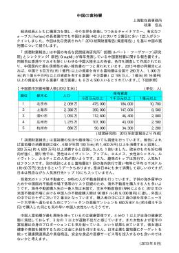 2013年8月中国の富裕層