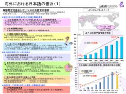 海外における日本語の普及(1)