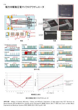 F10 横方向駆動圧電マイクロアクチュエータ