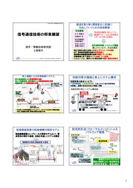 信号通信技術の将来展望 - 財団法人・鉄道総合技術研究所