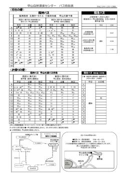 阪神バス 阪急バス 甲山自然環境センター