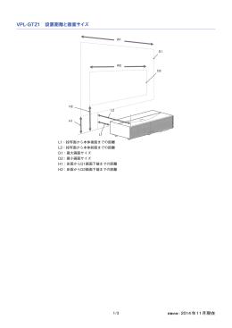 VPL-GTZ1 設置距離と画面サイズ