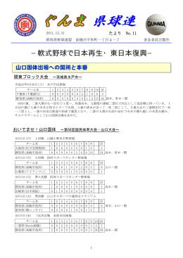 No.11 - 群馬県野球連盟