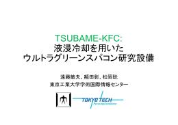 TSUBAME-KFC: 液浸冷却を用いた ウルトラグリーン