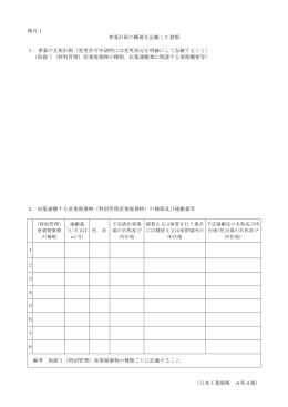 (日本工業規格 A列4番) 様式1 事業計画の概要を記載した書類 1.事業