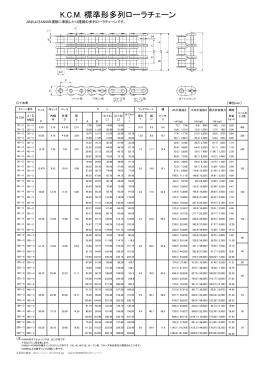 K.C.M. 標準形多列ローラチェーン