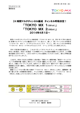 TOKYO MX 1(091ch)