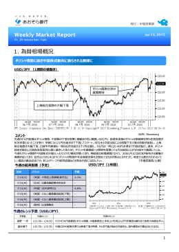 Weekly Market Report - Jul 13, 2015(PDF:776KB)