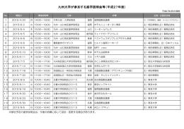 九州大学が参加する進学説明会等(平成27年度)