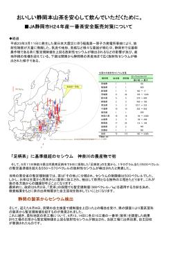 JA静岡市H24年産一番茶安全販売対策について