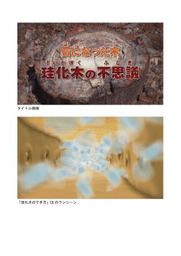タイトル画面 「珪化木のでき方」CG のワンシーン