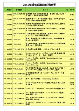 前期新着視聴覚リスト