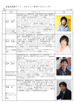 豊島区国際アート・カルチャー都市プロデューサー