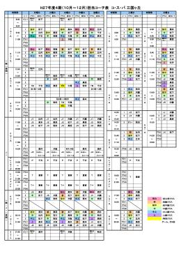 2015年10~12月担当コーチ表(PDF)