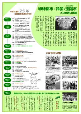 姉妹都市/韓国:密 陽 市